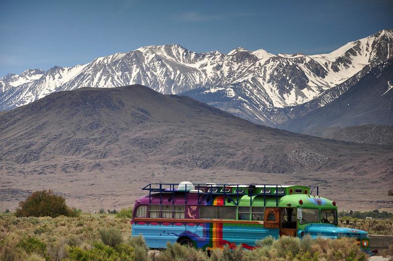 Hippie Bus, Big Pine, CA.