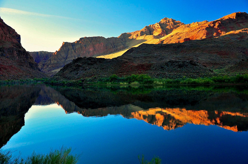 Sunrise, Colorado River, Lees ferry, AZ.