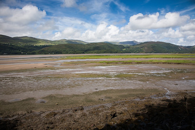 Mawddach-Delta kurz vor Ebbe; mündet in Irish Sea If you like these images, please check out my Bookstore