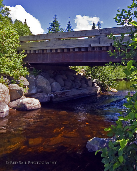 Bridge over Lazy Tom Stream near Kokadjo, Maine.