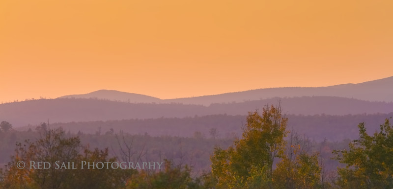 Sunset at Katahdin Woods and Waters
