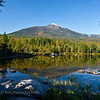 Mt. Katahdin from Sandy Stream Pond in Baxter State Park, Maine. This is a great place to view moose in the fall.