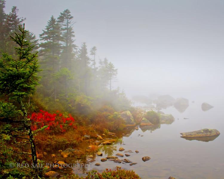 Early morning fog at Sandy Stream Pond....10-05-12