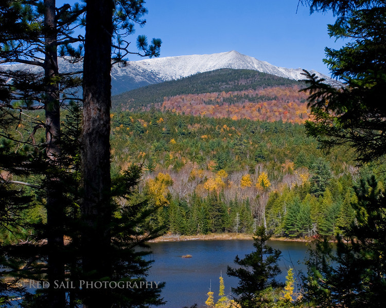 Mt. Katahdin with Abol Pond in the foreground. Image taken from Park Tote Road.