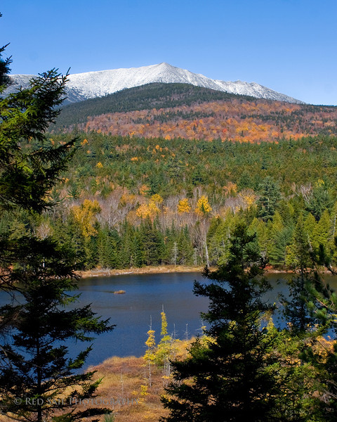 Mt. Katahdin with Round Pond. Image taken from the Baxter State Park Tote Road.