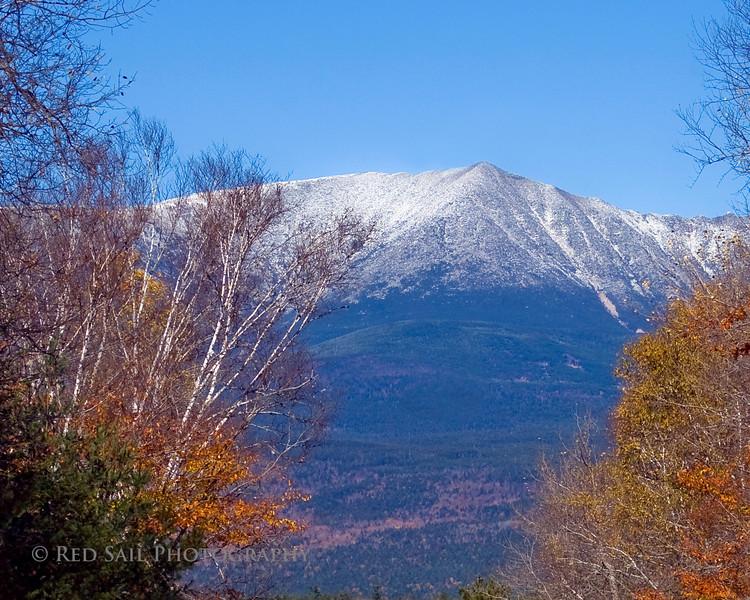 Mount Katahdin from Brook Road.