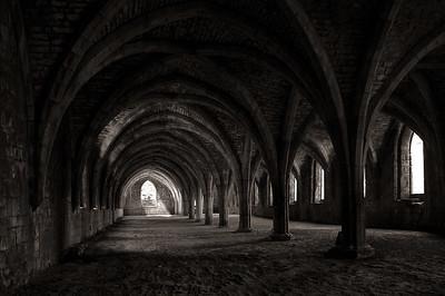 Cellarium, Fountains Abbey