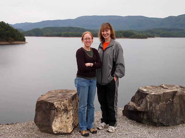 Liz and Vanessa at Holston Dam.