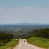 Heading North<br /> Summit at Pink Mountain, Alaska highway, northern BC