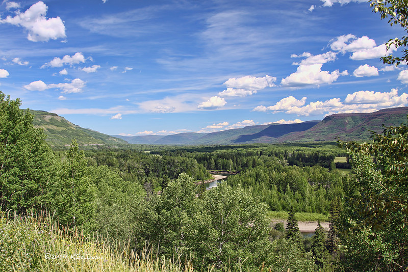 View of the Peace Foothills 30k south of Chetwynd, BC.
