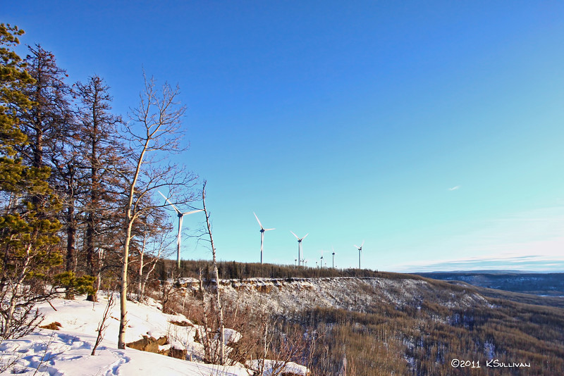 Bear Mountain Wind Park, Dawson Creek, BC.