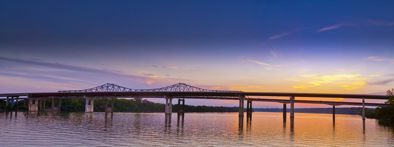 Tennessee River Bridge, Huntsville Alabama, Ditto Landing