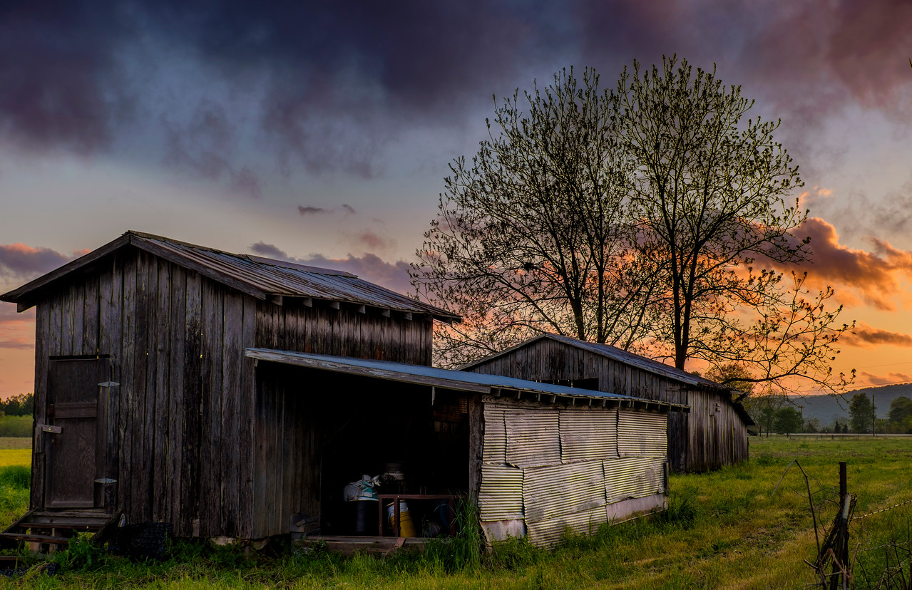 Storage shed on a farm in Jackson County