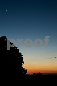 Sunset and Moonrise, South Rim Grand Canyon, AZ