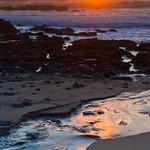 sunset with stream san mateo coast pescadero
