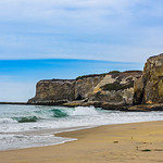 Waves and Cliffs at Davenport in Northern California #D811940