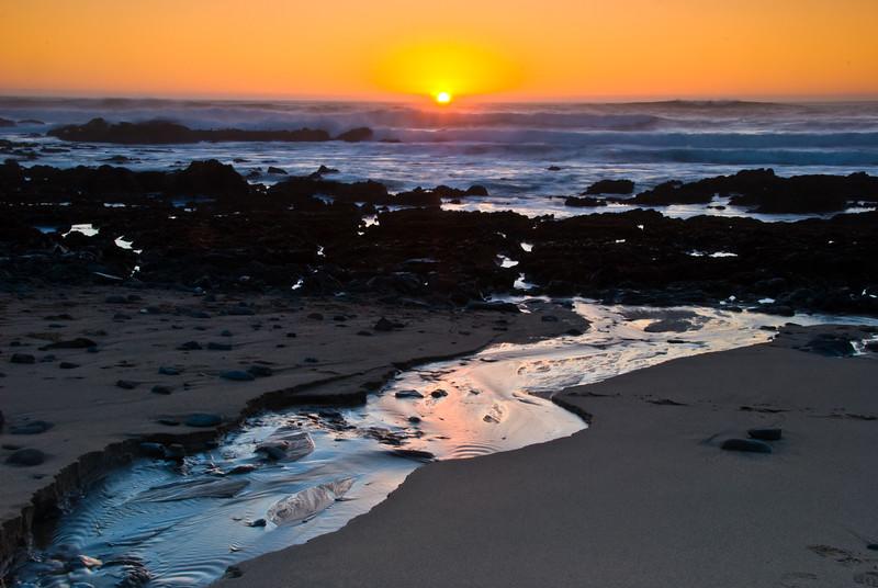 streaming coastal sunset