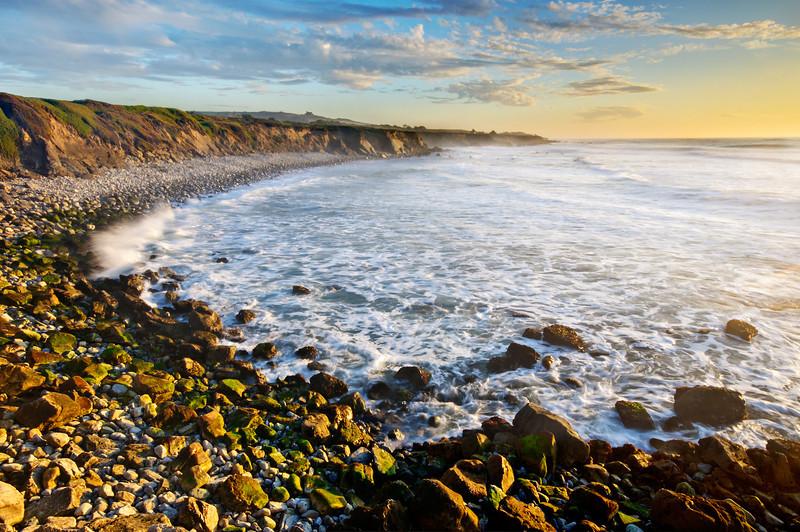 """San Mateo Northern California Coastline at Sunset"""