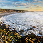 """San Mateo Northern California Coastline at Sunset"""