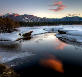 """""""Traces of Pink"""" Upper Truckee River, South Lake Tahoe, CA"""