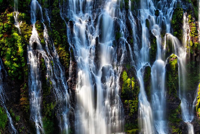 Burney Falls Detail - McArthur-Burney Falls Memorial State Park, CA