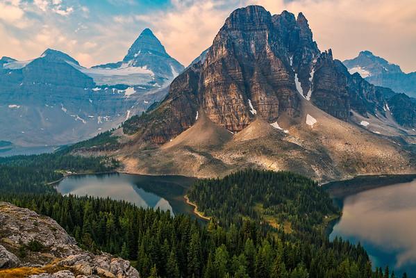 Sunburst Peak flanked by Mt Assiniboine