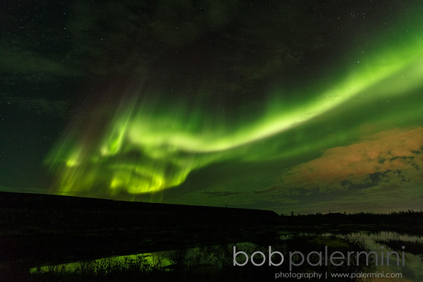 Northern Lights Over Yellowknife and Blachford Lake Lodge, Northwest Territories, Canada