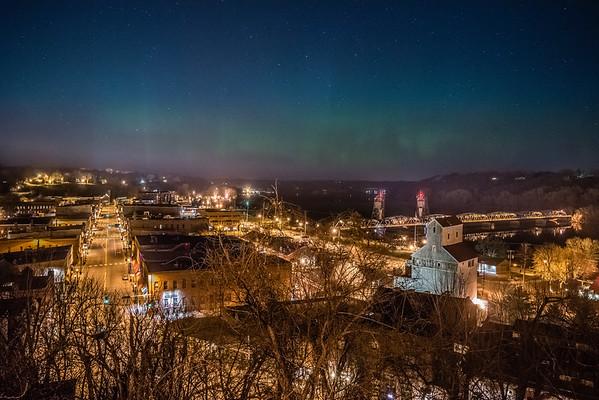 Stillwater Northern Lights, Stillwater Aurora, Central Minnesota Northern Lights