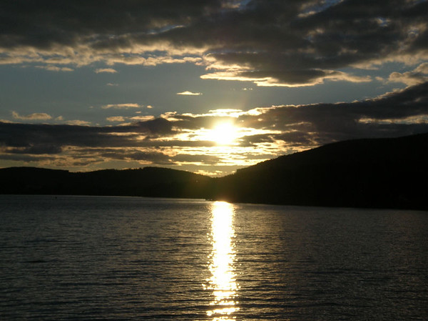 Northern Maine Sunset<br /> Pleasant Pond, Maine