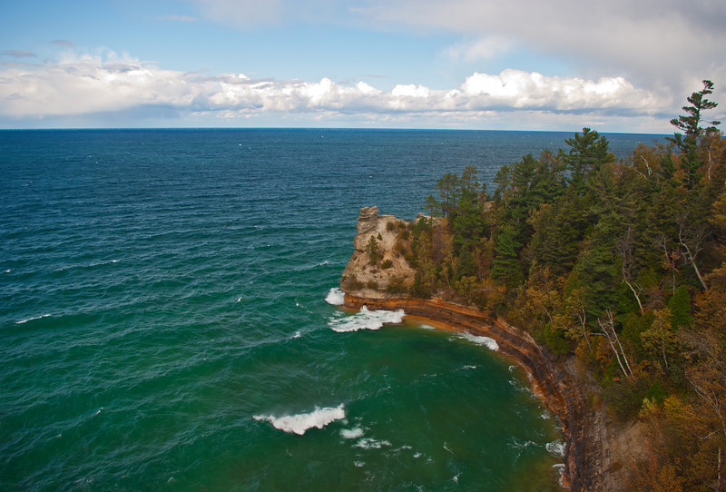 A brisk autumn day along the shores of Lake Superior in the Pictured Rocks National Lakeshore.