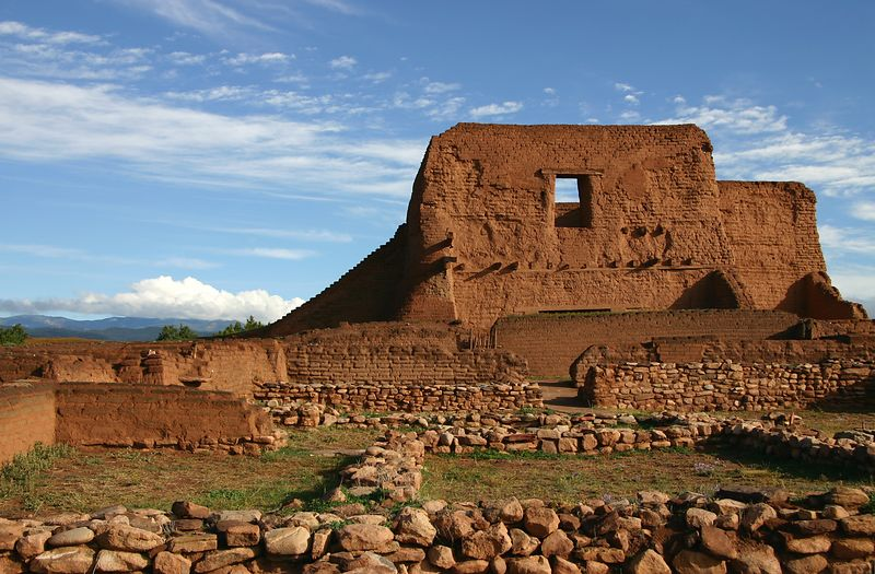 Pecos National Monument ruins near Santa Fe
