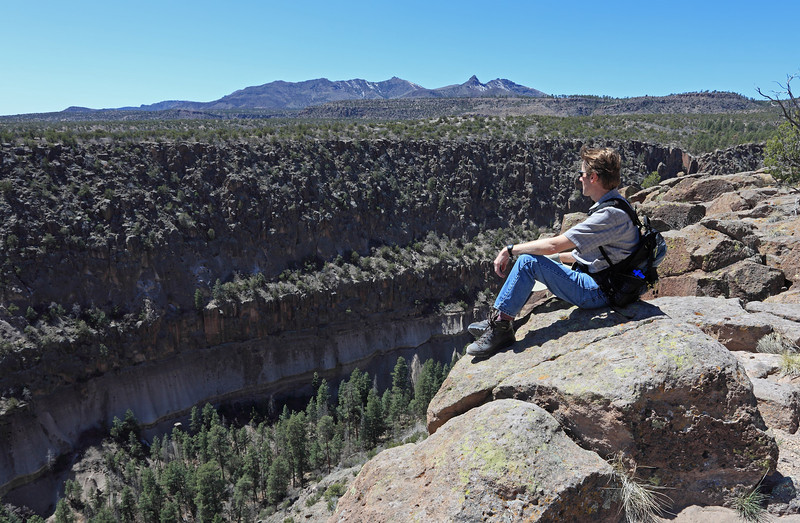 Overlooking Alamo canyon in Bandalier national monument