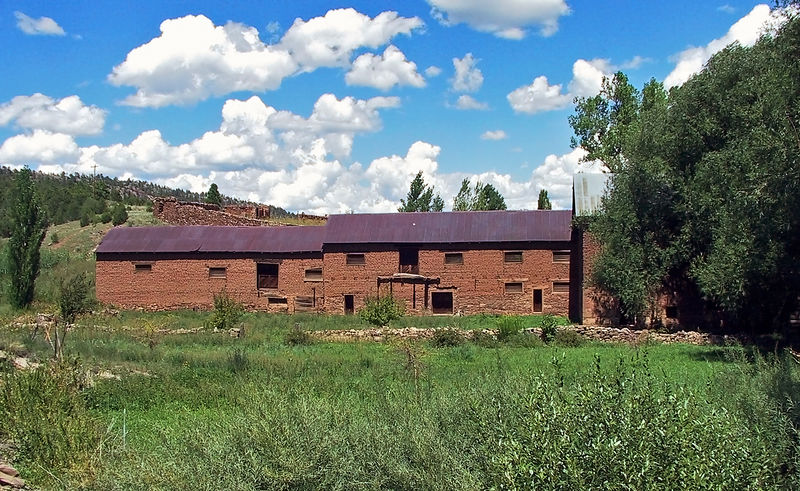 La Cueva Mill.  Built in the 1870s to supply flour to nearby Fort Union.