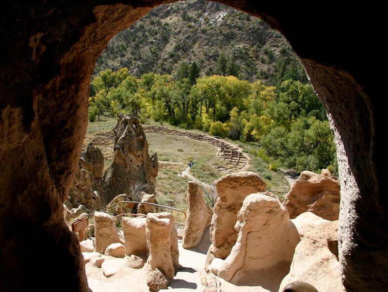 Pueblo ruins at Bandalier National Monument