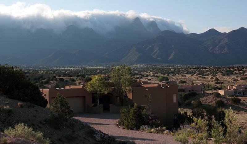 Sandia mountains above Placitas