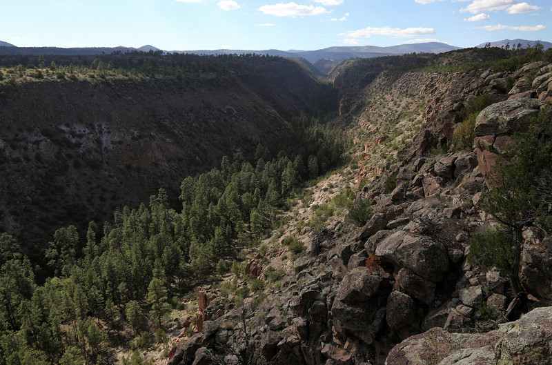 Frijoles Canyon - Bandalier National Monument, view to the north