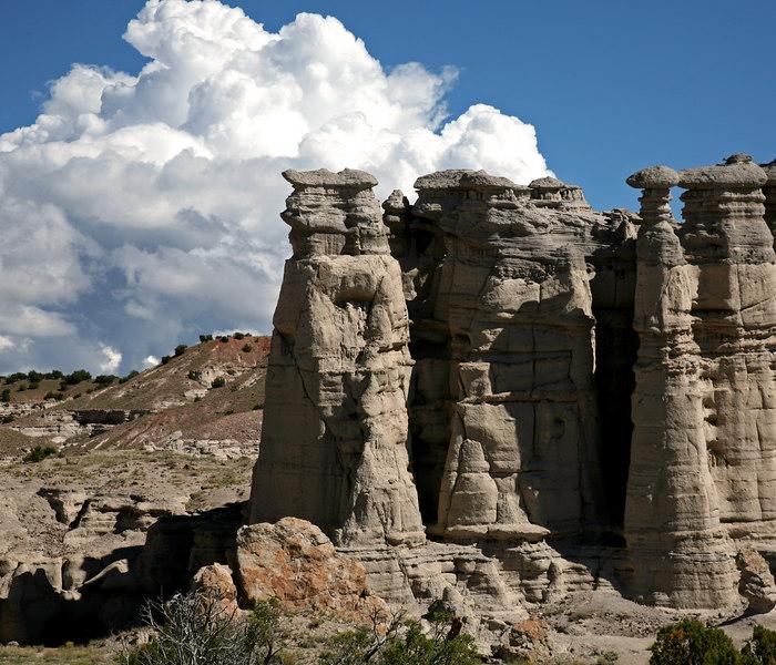 Pumice columns near Abiquiu, NM