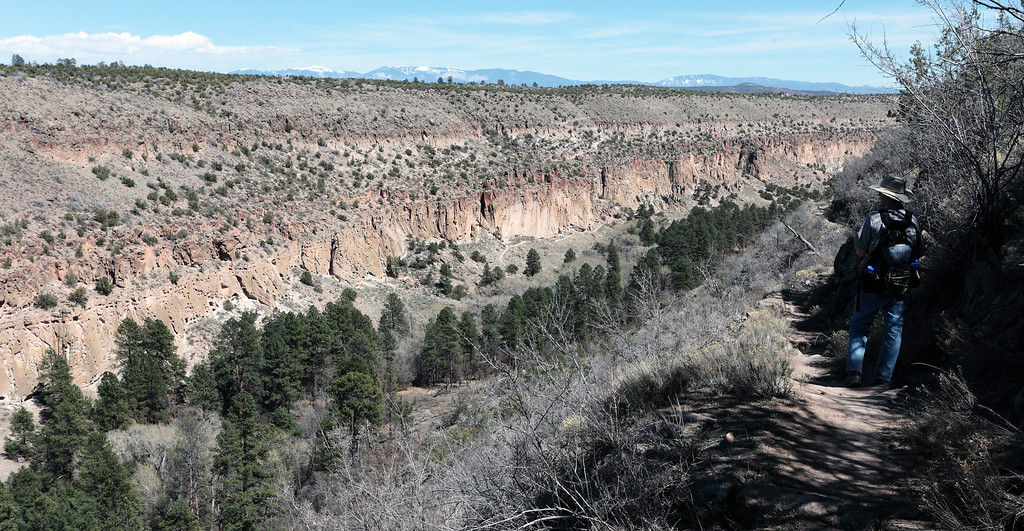 Looking down Frijoles canyon in Bandalier national monument