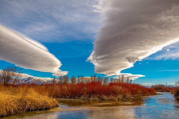 beautiful lenticular clouds