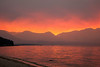 Sunset at Lake Tahoe during forest fire 3