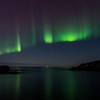 Northern light ribbon over the ocean<br /> North of Nyksund jetty II