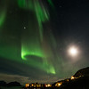 Northern lights over Nyksund in February