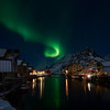 Northern lights over Nyksund in March