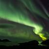 Northern lights over the ocean<br /> Vestervika, Nyksund