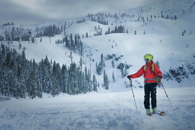 Castle Lake AT Skiing