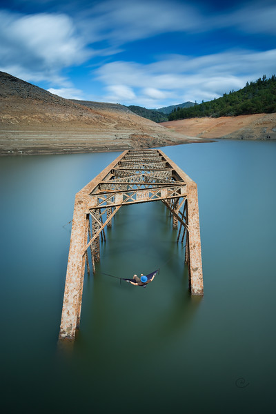 Lake Shasta Bridge Remains