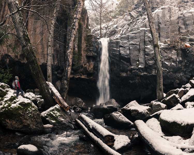 Hedge Creek Falls in some Snow
