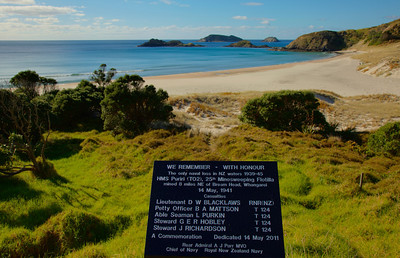 Whangarei Heads with commemorative plaque