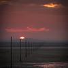Holy Island Causeway Sunset