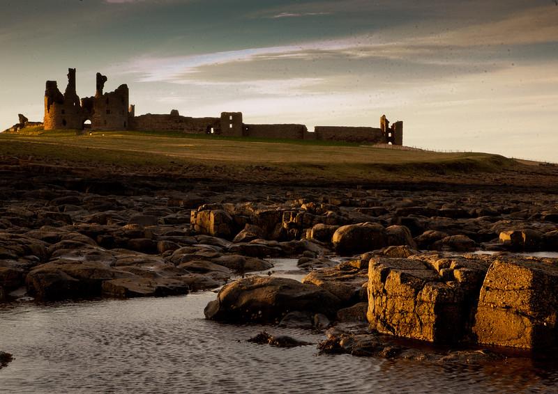 Dunstanburgh Castle  Sunset 1